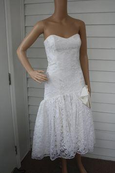 White lace 80s dress style