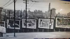 Clifton Ave. Billboards and downtown view.