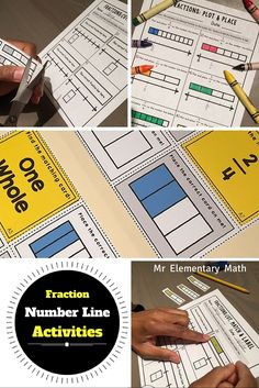 Check out a fun way to reinforce fractions on a number line.  Students will engage in hands-on activities that can easily be used in math centers.  2 fraction games and 4 different types of activity sheets.