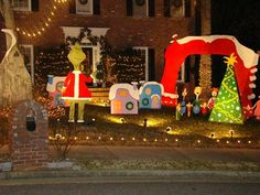 Whoville Houses | 425 Kirkstall Trail | Alpharetta,GA Christmas Lights | Tacky Light ...