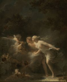 """""""The Fountain of Love,"""" Jean-Honoré Fragonard, about 1785. Oil on canvas. 