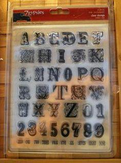 7 Gypsies Fancy Alphabet stamp set