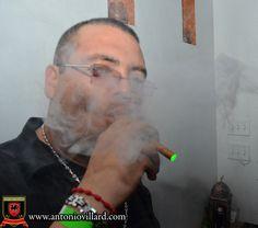 Enjoying an Antonio Villard Premium Electronic Cigar - Cubana