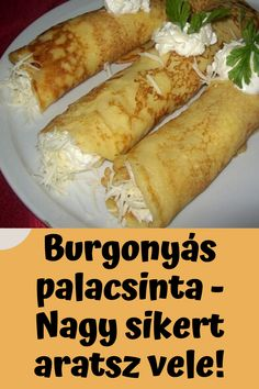Nagy sikert aratsz vele! #palacsinta #burgonya #burgonyás Best Dinner Recipes, Breakfast Recipes, Easy Snacks, Healthy Snacks, Food 52, Diy Food, Vegan Recipes, Cooking Recipes, Good Food