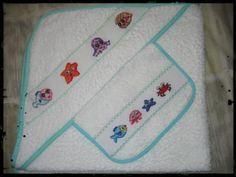 conjunto toalla y babero azul_640x480