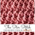 Learn how to #crochet the Star Stitch with this video and photo tutorial from Moogly! ༺✿ƬⱤღ  https://www.pinterest.com/teretegui/✿༻