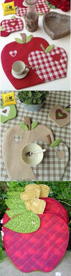 Ах эти яблочки. Салфетки для кухни