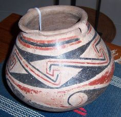 "Casa Grand Polychrome Vessel Pot Jar Bowl Circa 1100/1200 AD 6""X 7"""