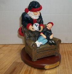 HOUSTON TEXANS  Santa's Gift Figurine NFL The Memory Co New 2001 Reliant Stadium #THEMEMORYCO #HoustonTexans