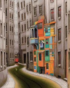 Les ciutats fantàstiques de Jacek Yerka / Ciudades fantásticas / The great cities of Jacek Yerka Wassily Kandinsky, Illustrations, Illustration Art, Art Magique, Bg Design, Magic Realism, Pop Surrealism, Oeuvre D'art, Les Oeuvres