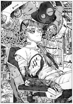 Manga and Stuff Cyberpunk Kunst, Cyberpunk 2077, Comic Kunst, Comic Art, Character Concept, Character Art, Manga Art, Anime Art, Cyberpunk Aesthetic