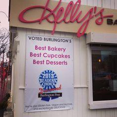 Kelly's Bake Shoppe won Best Bakery, Best Cupcakes and Best Desserts for Burlington 2012, 2013, 2014.