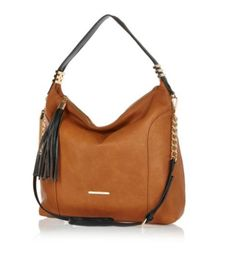 Brown Slouch Tassel Bag !! River Island <3