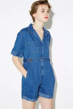 d9062e6a9a3 Aliexpress.com   Buy 2016 Summer High Street Casual Pocket Decoration  Overalls Crimping Wide Leg Loose Denim Rompers Womens Jumpsuit Macacao  Feminino from ...