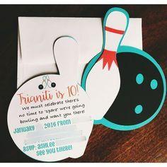 Bowling Birthday Invitation Self Editable Pdf  X  Inch  Bowling