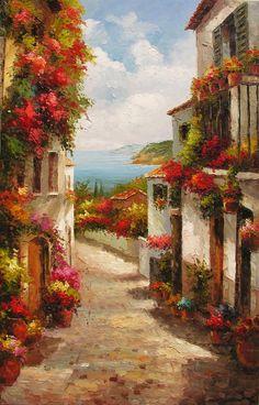 ORIGINAL pintura al óleo la belleza de verano 23 por ArtPaintingsMP