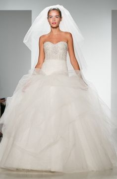 Kenneth Pool - Sweetheart Ball Gown in Tulle