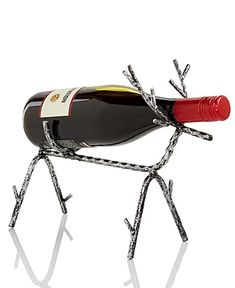 Holiday Lane The Holiday Collection Iron Reindeer Wine Bottle Holder Wine Bottle Holders, Candle Holders, Welding Art Projects, Home Office Lighting, Reno, Furniture For Small Spaces, Wine Rack, Metal Working, Reindeer