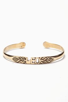 Leo bangle. For in depth info on Leo personality and characteristics go to http://www.examiner.com/article/the-leo-sign-leo-traits-personality-and-characteristics