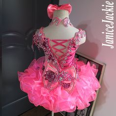 (neon pink with berry) (item: include choker Nice Dresses, Formal Dresses, Amazing Dresses, Glitz Pageant Dresses, Beauty Pageant, Ballet, Beautiful Outfits, Choker, Berry