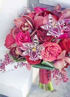 Buquê com orquídeas