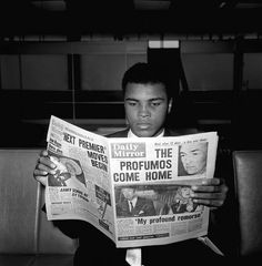 Mohamed Ali reading, from Awesome People Reading