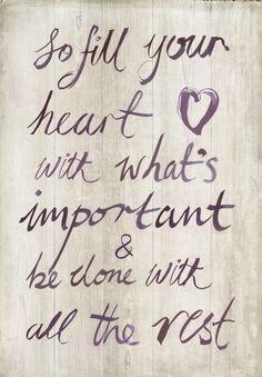Fill your Heart Art Print