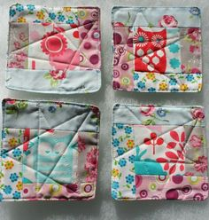 Fabric Coasters £5.00 Fabric Coasters, Sewing Projects, Quilting, Gift Wrapping, Textiles, Gifts, Home, Dressmaking, Gift Wrapping Paper