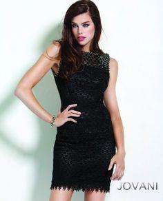 aa72c7c13f1  Jovani style 5604  JovaniFashions  LittleBlackDress  LBD  lace   sophisticated  dress