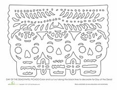 Worksheets: Day of the Dead Art