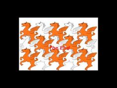 Escher is the artist that made the art of tessellation famous and popular. One of his simpler tessellations was his flying horses. (1:37)