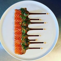 Chefs Of Instagram - Cured salmon, salmon roe, in a fresh cucumber with micro leaves & a velvety spicy sauce. ✅ By - @shy.frenkel ✅