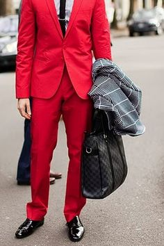 """The Prior Caption: """"Red mens suit.  Who says you cant be bold RED WEDDING"""" I wonder...how would Edmure look in this?"""