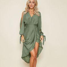 New Fashion Women Sexy scollo a V abito estivo maniche di lanterna Boho  lungo maxi abito f252ac23e2c7