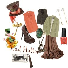 Mad Hatter inspired outfit.  Love it.  Thankfully, I am a hat person.