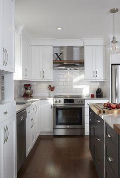 & & & & Kitchen cabinets-wood - cherry which, quartz - Simard Kitchen and bathroom New Kitchen Designs, Kitchen Inspirations, Kitchen Style, White Modern Kitchen, Home Kitchens, Kitchen Sets, Small Kitchen Organization, Kitchen Remodel, Kitchen Renovation