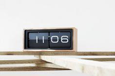 Leff Amsterdam Brick Clock | Copper. Designer clock pieces. Get it here: http://bit.ly/1Mo1jQr