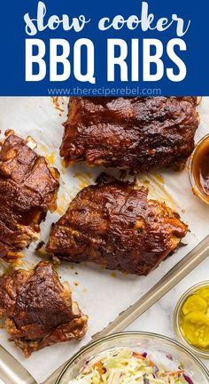 Rib Recipes, Slow Cooker Recipes, Crockpot Recipes, Cooking Recipes, Dinner Recipes, Crockpot Dishes, Crock Pot Cooking, Pork Dishes, Recipes