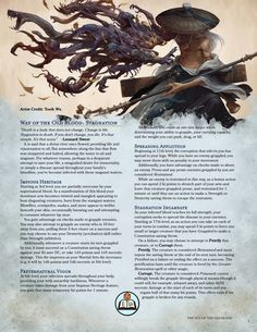 Way of the Old Blood: Stagnation vs Evolution Dungeons And Dragons Rules, Dungeons And Dragons Classes, Dnd Dragons, Dungeons And Dragons Homebrew, Dungeons And Dragons Characters, Dnd Characters, Dnd Stats, Dnd Stories, Dnd Races
