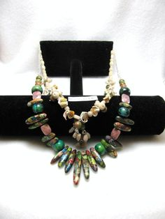 Shells & Spikes - Jewelry creation by Linda Foust