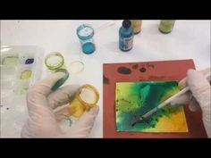 Experimenting with Alcohol Inks on Raw Polymer Clay with Debbie Crothers