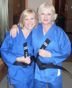 Noelle Erling (on left, her mother Susan Martinez on right) is a second degree black belt in TaeKwondo.  She earned her first degree at age 14 and her second at age 33.  Noelle is affliated with Out on a Limb Martial Arts in Falcon Heights, MN.