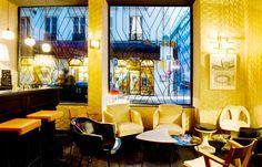 3. Bam Karaoke, 30, Rue Richer. Paris.                          El diseño de Laura Léonard encaja entre lo retro y lo vintage con algún aire sesentero en los que el amor y la paz se construyen al ritmo de la música.