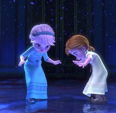 Frozen~ Elsa and Anna    @Michael Aitken Bush ANNA'S BOOTS LOOK LIKE KRISTOFF'S!!!!!