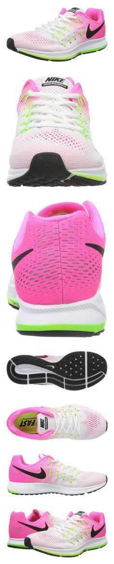 the latest 51c26 86d3b  256.2 - Nike Women s Wmns Air Zoom Pegasus 33, WHITE BLACK-PINK  BLAST-ELECTRIC GREEN  shoes  nike  2016