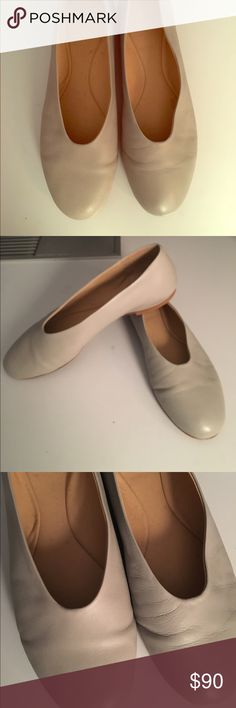 COS leather flat ballet shoes Martiniano style COS brand 100% calf leather dove grey flat shoes. Ballet pump style. Ultra soft material. Worn a few times (see sole). EU 39 - US 9 cos Shoes Flats & Loafers