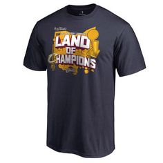 Cleveland Cavaliers Navy 2016 NBA Finals Champions Land of Champions T-Shirt