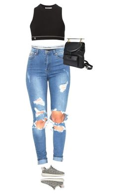 """""""bby G"""" by alesizzle ❤ liked on Polyvore featuring Calvin Klein Underwear, T By Alexander Wang, M2Malletier and adidas"""