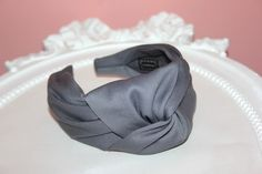 Gray turban headband for women wide cotton blend knotted headband stylish head accessory top knot fabric headband scarf Headband Scarf, Knotted Headband, Turban Headbands, Head Accessories, Hair Accessories For Women, Fabric Headbands, Headbands For Women, Earmuffs, Top Knot