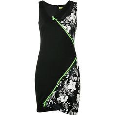 Versace Jeans - asymmetric dress - women - Polyamide/Polyester/Viscose... ($280) ❤ liked on Polyvore featuring dresses, black, rayon dress, versace cocktail dresses, versace, asymmetrical dresses and versace dress